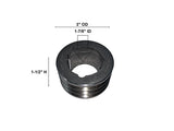 "(16138) ENGINE PULLEY 3GR 3"" DIA (783562)(112199)"