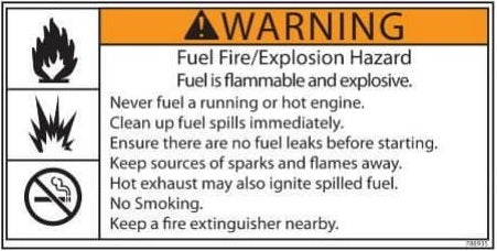 (788935) Decal, Fuel Fire Explosion