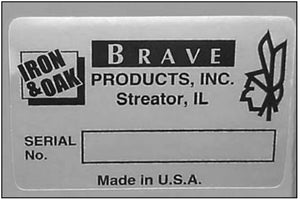 (BR002521) Decal, Serial Number