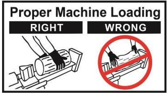 (BR002560) DECAL - PROPER MACHINE LOADING HORIZ