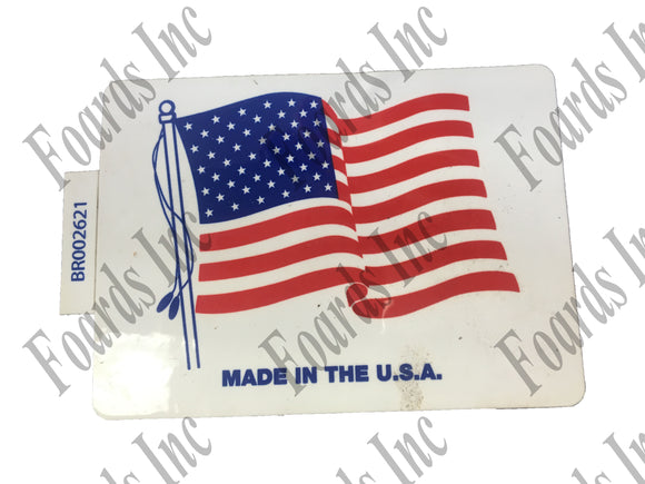 (BR002621) DECAL - MADE IN THE USA