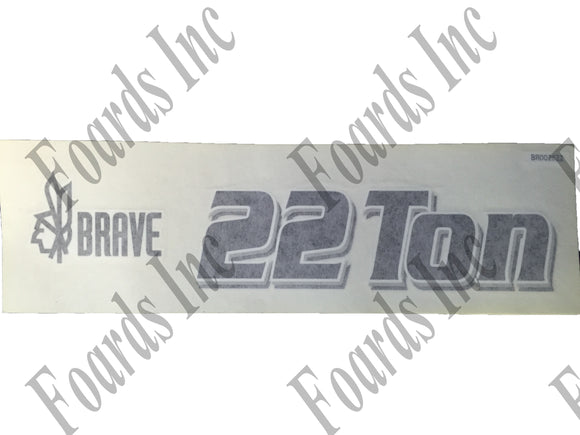 (BR002622) DECAL - 22 TON BRAVE DECAL