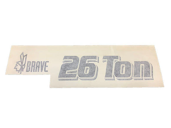(BR002624) DECAL - 26 TON BRAVE DECAL