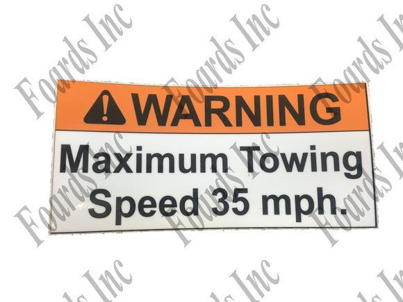 (BR002653) DECAL - NOTICE SPEED LIMIT
