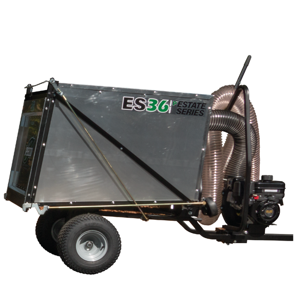 PECO Estate Series ES36P 36 Cubic Foot Trailer Pasture Vac w/ 6.5hp Briggs & Stratton Vanguard (703602)