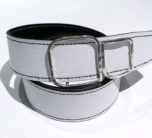 Women's Sewn and Lined Reversible Belt