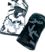custom leather golf headcover, camo leather golf club headcovers