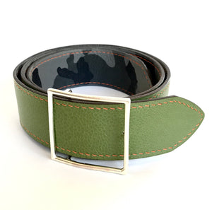 Mens Hand Sewn Lined and Reversible Belt
