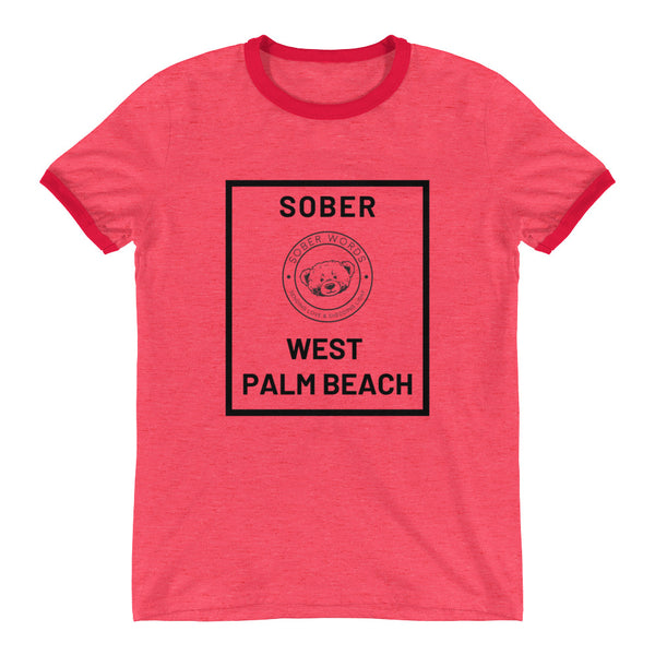 Sober West Palm Beach Ringer T-Shirt