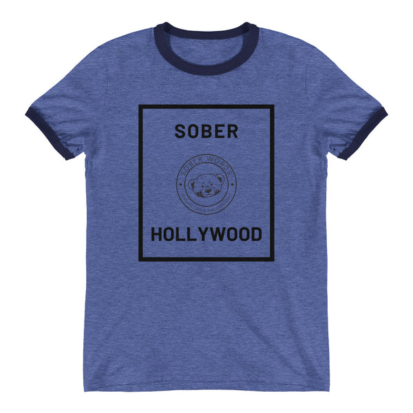 Sober Hollywood Ringer T-Shirt
