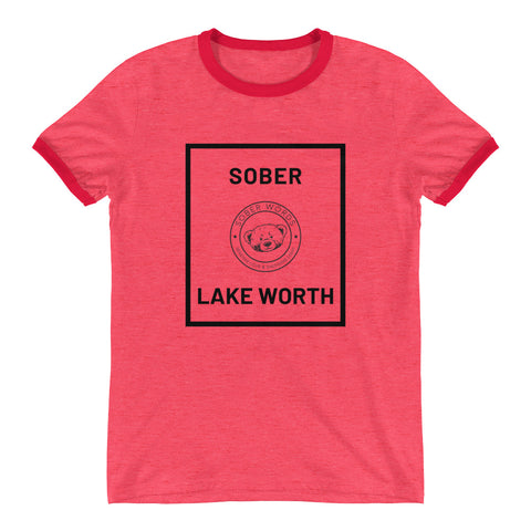 Sober Lake Worth Ringer T-Shirt