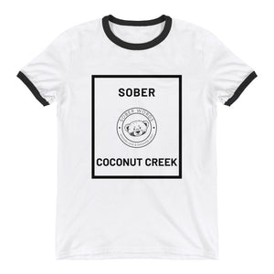 Sober Coconut Creek Ringer T-Shirt