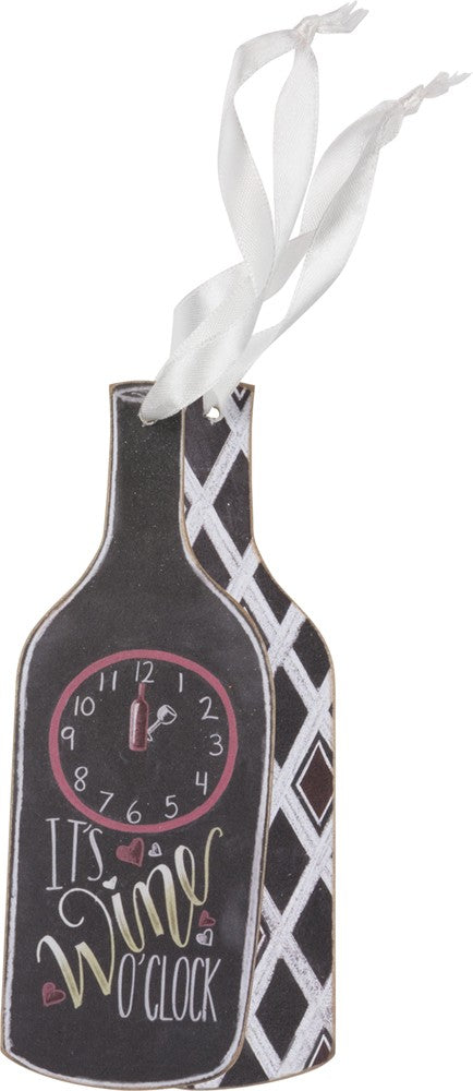 Wine O'Clock Bottle Tag