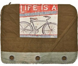 LIFE IS A BEAUTIFUL RIDE LAPTOP SLEEVE