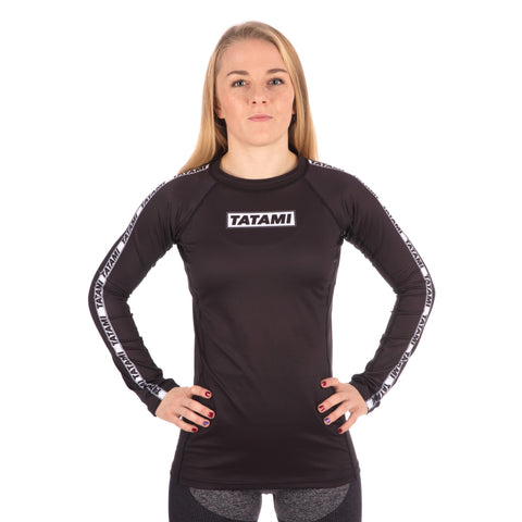Ladies Dweller Long Sleeve Rash Guard - Black