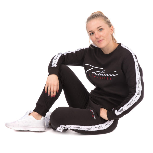Ladies Autograph Tracksuit (sweater and Joggers) - Black