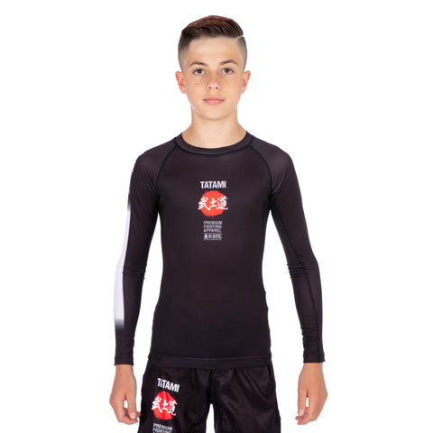 Kids Bushido Black Long Sleeve Rash Guard