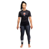 Ladies Bushido Black Short Sleeve Rash Guard