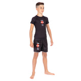 Kids Bushido Black Short Sleeve Rash Guard