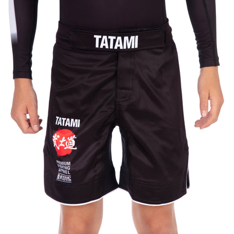 Kids Bushido Black Grappling Shorts