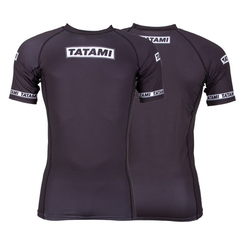 Dweller Short Sleeve Rash Guard - Black