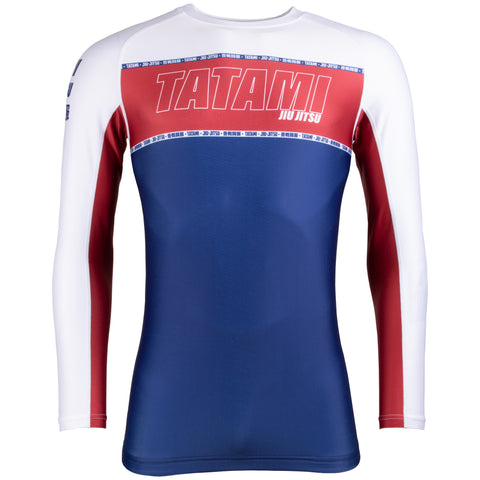 Contour Long Sleeve Rash Guard - Burgundy