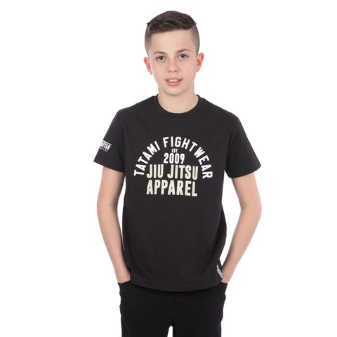Kids Retro T-Shirt Black