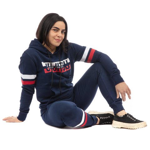 Ladies Super Tracksuit (Hoodie and Joggers) - Navy
