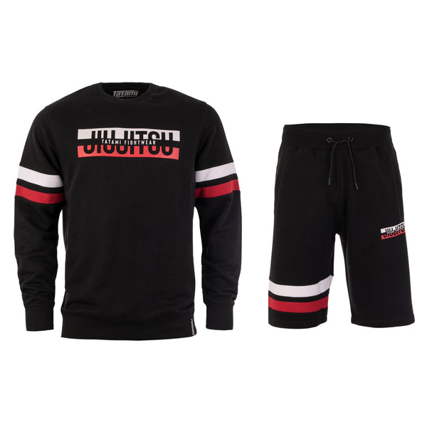 Super Tracksuit (Sweater and Shorts) - Black