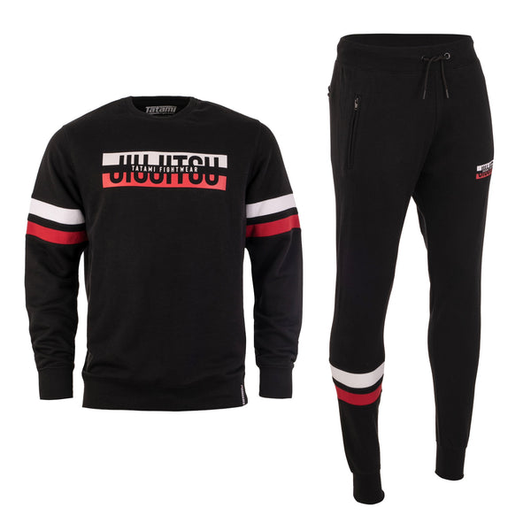 Super Tracksuit (Sweater and Joggers) - Black