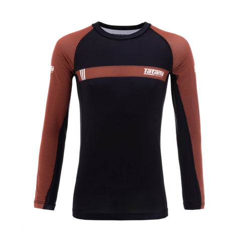 IBJJF 2020 Ranked Long Sleeve Rash Guard - Brown