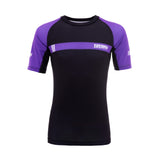 IBJJF 2020 Ranked Short Sleeve Rash Guard - Purple