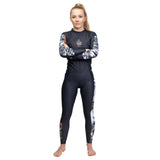 Ladies Tropic Black Long Sleeve Rash Guard