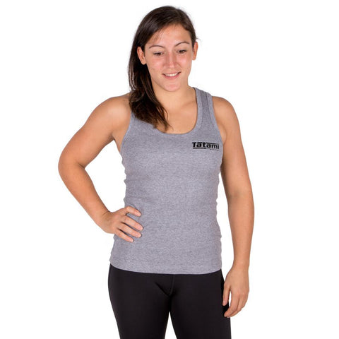 Ladies Grey Ribbed Racer-Back Vest