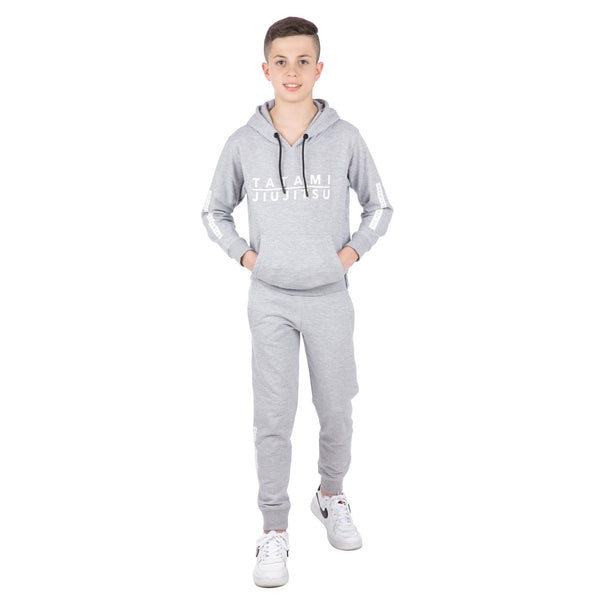 Kids Rival Tracksuit (Hoodie and Joggers) - Grey