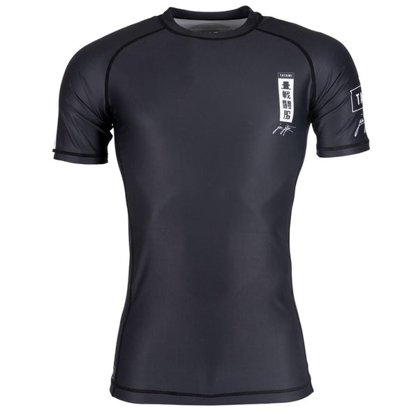 Kanagawa Short Sleeve Rash Guard - Black