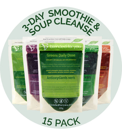 3-Day Smoothie & Soup Cleanse (15-Pack)