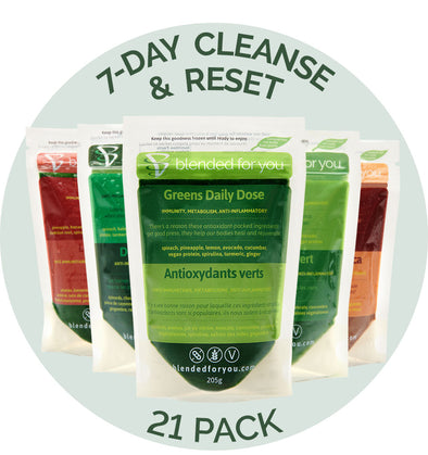 7-Day Cleanse & Reset + 7 Extra Blends (21 Smoothies + Nutrition Program)