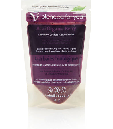 Blended For You Frozen Smoothie Blend - Acai Organic Berry
