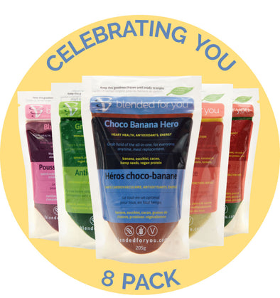 Blended For You Frozen Smoothie Blend - Celebrating You 8 Pack