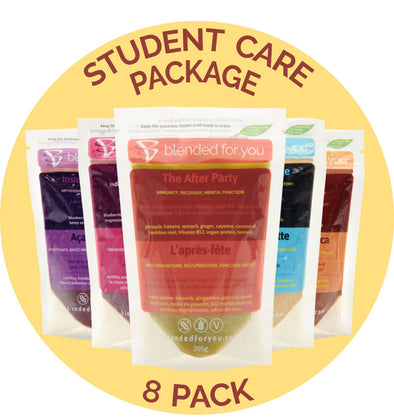 Blended For You Frozen Smoothie Blend - Student Care Package 8 Pack