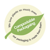 Compostable Packaging Badge - Blended For You Smoothies