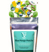 Blue Mango Matcha Smoothie Pack with Ingredients