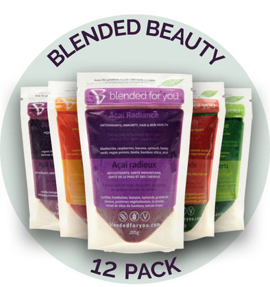 Blended For You Frozen Smoothie Blends - Blended Beauty Combo 12 Pack