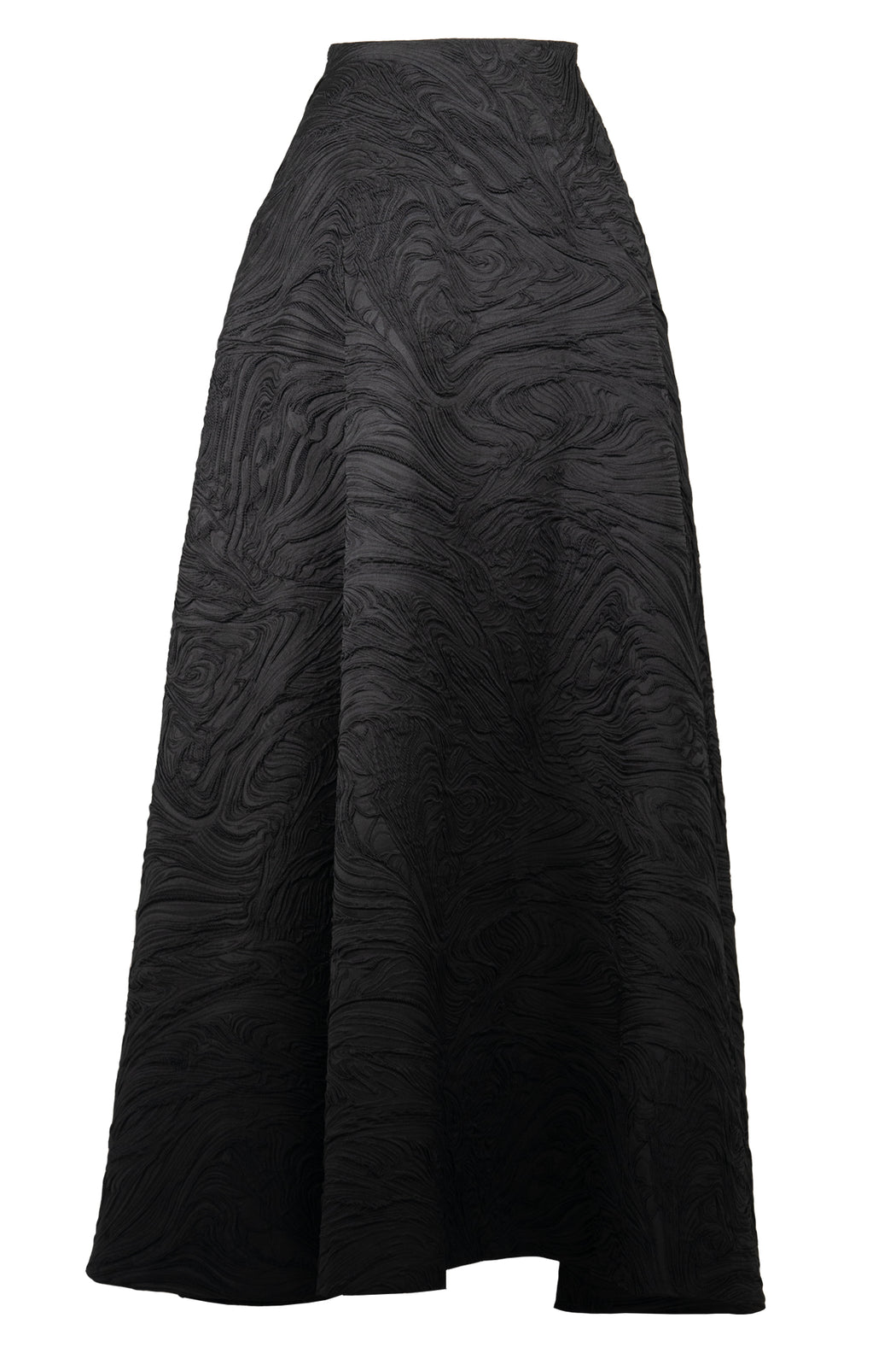 Embossed Black Circle Skirt