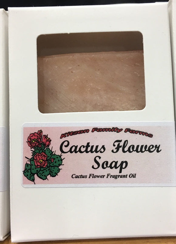 Sweet Spring Cactus Flower  Hand Crafted Natural Soap