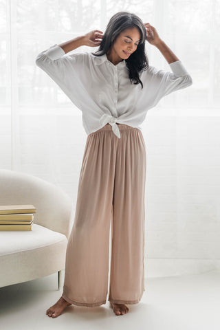 Dolce Collection Silk Pants and Blouse