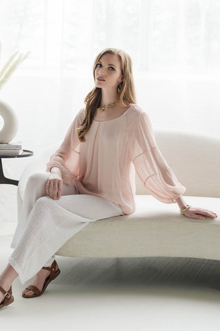 Adeline Silk Blouse Made in Italy