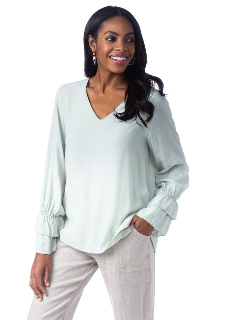 Genevieve V-Neck Blouse
