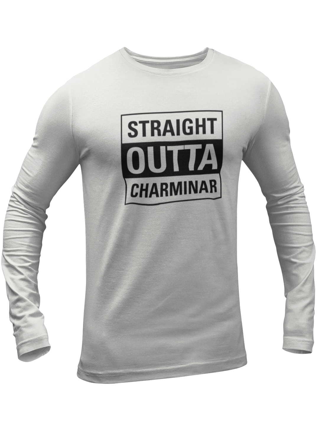 Straight Outta Charminar Full Sleeves T-shirt - ateedude
